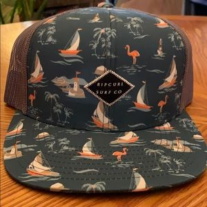 Rio Curl nautical snapback hat